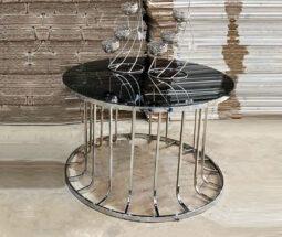 میز جلو مبلی گرد آینه ای مدل ستونی
