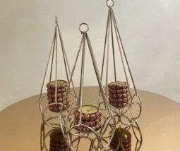 جاشمعی هرمی سه تایی رومیزی
