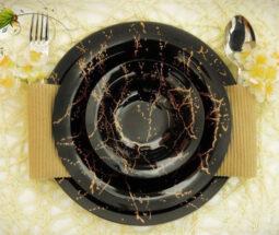 ست غذاخوری ۲۵ پارچه آذین اوپال طرح ماربل