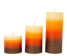 شمع استوانه ای متالیک چند رنگ
